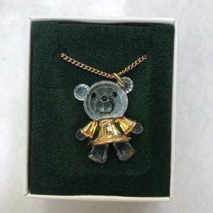 Swarovski crystal bear necklace